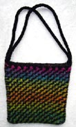 Diagonal Ripple Felted Purse Knitting Pattern