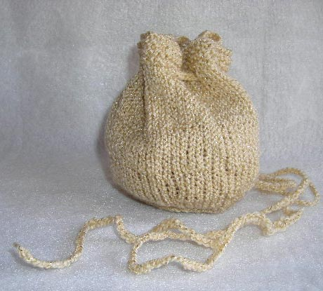 Evening Pouch Drawstring Bag Knitting Pattern