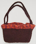 Ruffled Two Handle Felted Bag Knittting Pattern