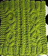 Hugs And Kisses Cable Wash Cloth Knitting Pattern
