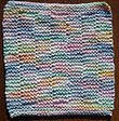 Easy End Of The Rainbow Dish Cloth Knitting Pattern