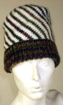 Striped Spiral Hat Knitting Pattern For Adults