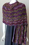Shell Lace Shawl Knitting Pattern