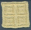 Squares In Squares Knitting Stitch Pattern