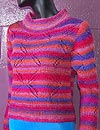 Women's Cloverleaf Eyelet Pullover Sweater Knitting Pattern